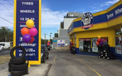 Permanent, Helium Free, Outdoor Balloons installed at Bob Jane T-Mart Essendon